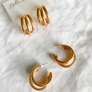 Hadley Hoop Earrings - BelleStyle