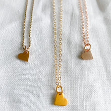 Bellestyle rose gold and gold mini heart charm necklaces