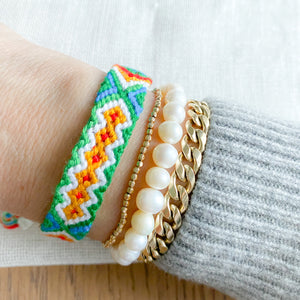 Hand Braided Friendship Multi Colored Bracelet - Bellestyle Green