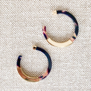 Multi colored hoops with gold detail