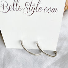 Taylor Oval Crystal Hoop Earrings - BelleStyle