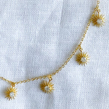 Bellestyle gold star dangle necklace
