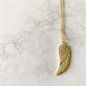 Angelwing Pave Necklace - BelleStyle