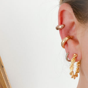 Uptown Thick Earcuff Earring - Bellestyle Gold Rose Gold