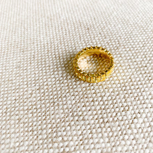 Yellow baguette crystal gold ring