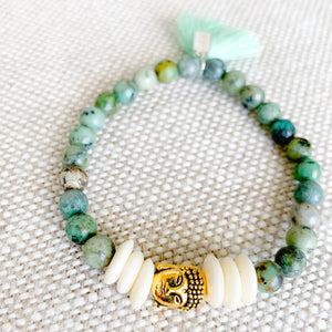 Buddha Bracelet in Turquoise - BelleStyle