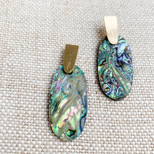 Abalone shell gold earrings