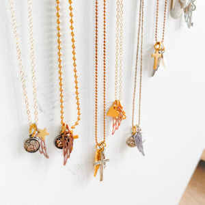 Cross Wing Charm Necklace - BelleStyle