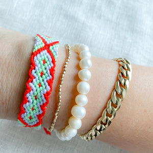 Hand Braided Friendship Multi Colored Bracelet - Bellestyle Red Mint