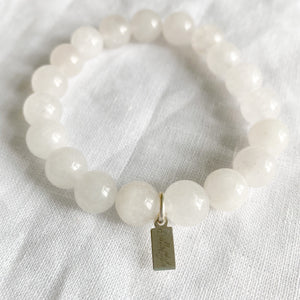 Crystal Quartz 10mm Bracelet - BelleStyle