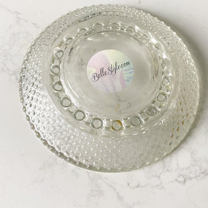 Bellestyle sustainable crystal dot dish smudge jewelry candle candy dish
