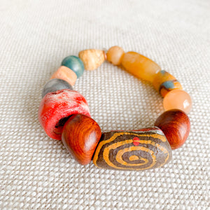 one of a kind african prayer bead color bracelet