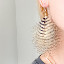 Tiger Feather Earrings - Bellestyle natural maribu