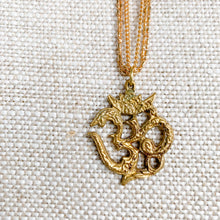 Om aum necklace gold