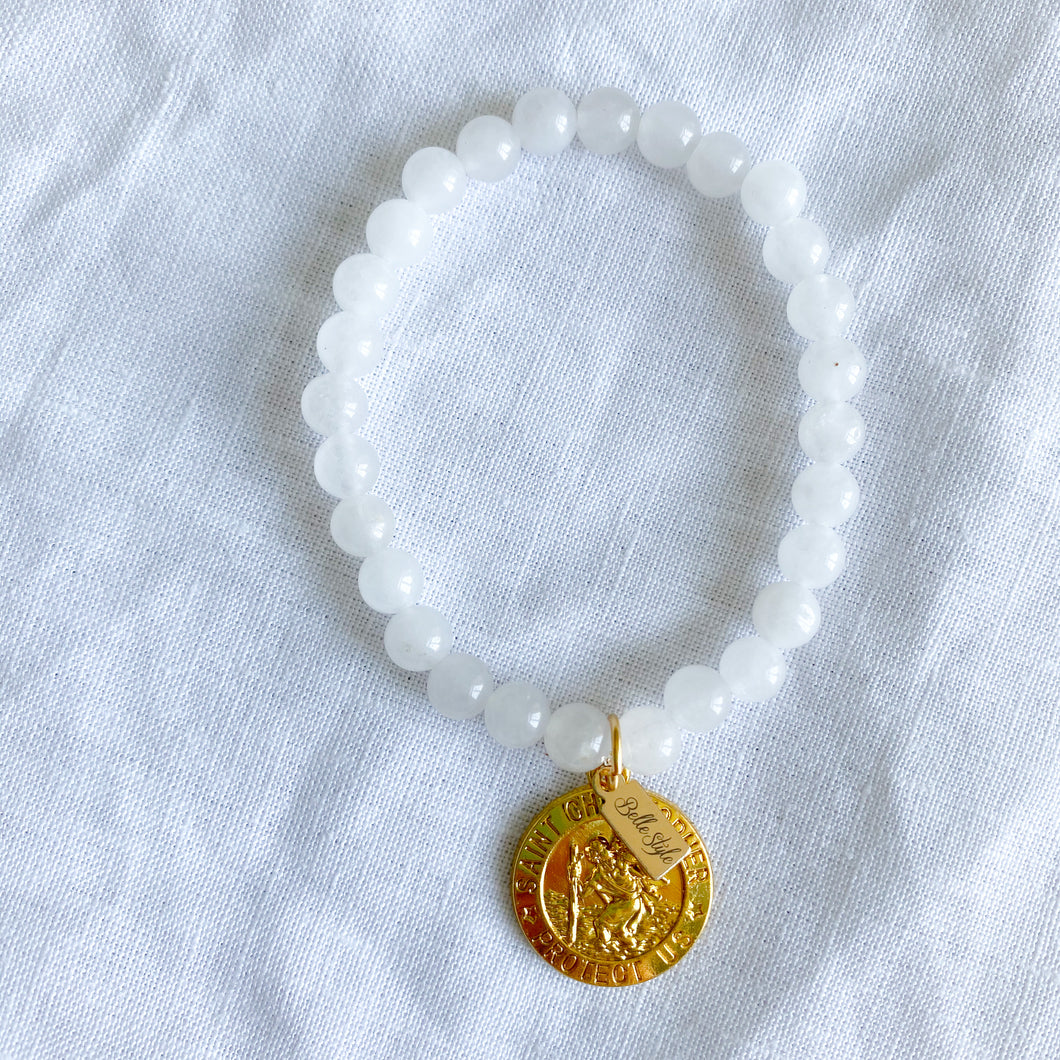 St. Christopher Protect Us Bracelet - BelleStyle