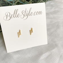 Lightning Bolt Crystal Earrings - BelleStyle