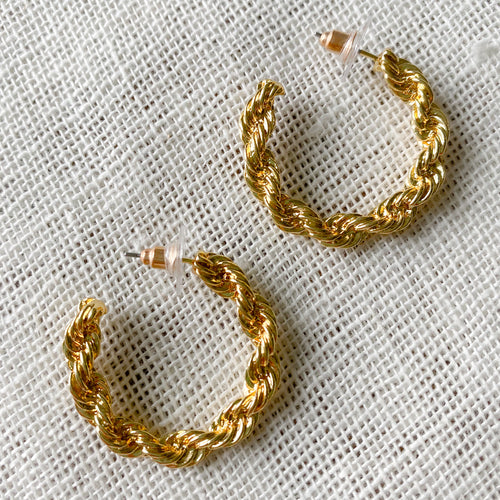 Calgary Chain Hoop Earrings - Bellestyle