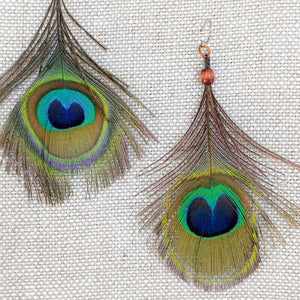 Peacock Earrings