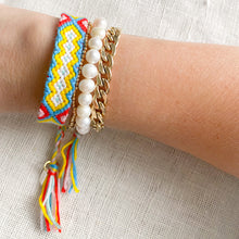 Hand Braided Friendship Multi Colored Bracelet - Bellestyle Yellow
