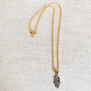Moon Star Hamsa Necklace - BelleStyle