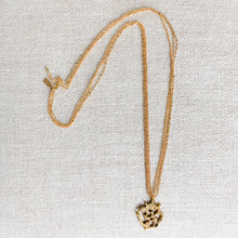 Om aum gold charm necklace