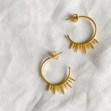 Sunbeam Gold Hoop Earrings