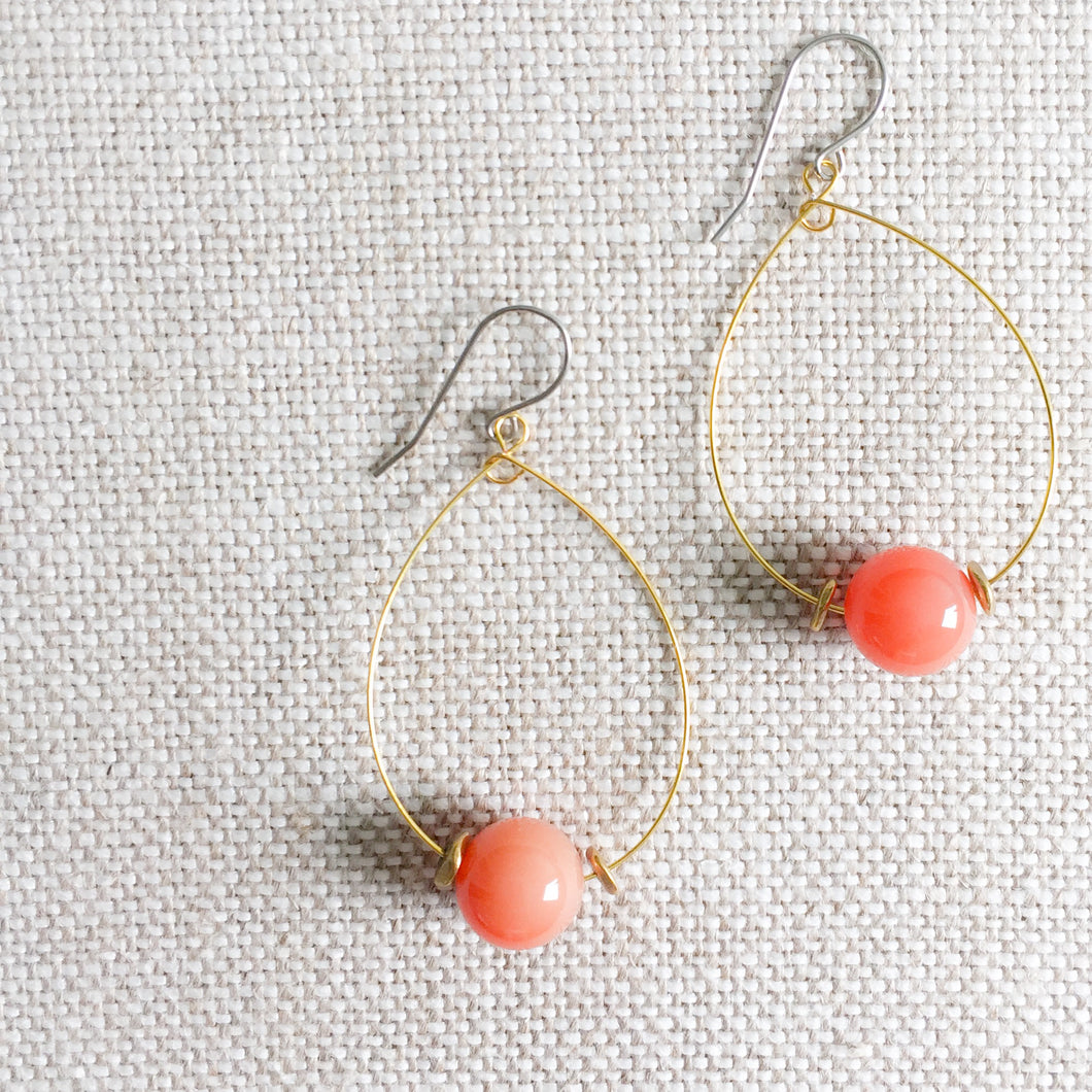 Peach Pit Earrings