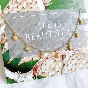 Bellestyle seven star gold necklace