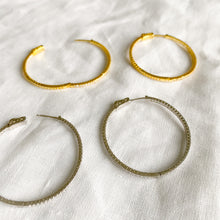 Taylor Gold Crystal Hoop Earrings - BelleStyle