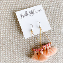 BelleStyle Blush tassel Earrings