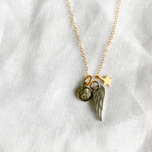 BelleStyle angel face wing star charm necklace gold chain