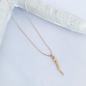 Italian Horn Necklace - BelleStyle