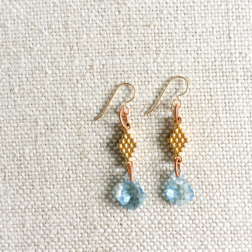 Aqua Earrings - BelleStyle