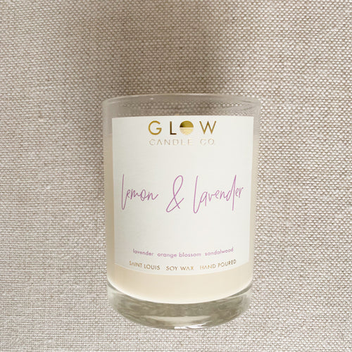 GLOW Lemon & Lavander Candle - BelleStyle