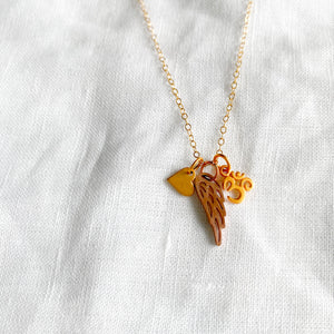 Wing Om Charm Necklace - BelleStyle