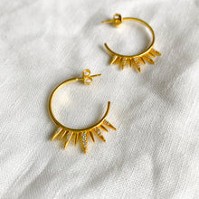 Sunbeam Gold Hoop Earrings - BelleStyle