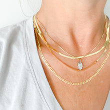 Baldwyn Gold 14KT Herringbone Chain Necklace - BelleStyle 18 inch chain necklace unisex precious metal
