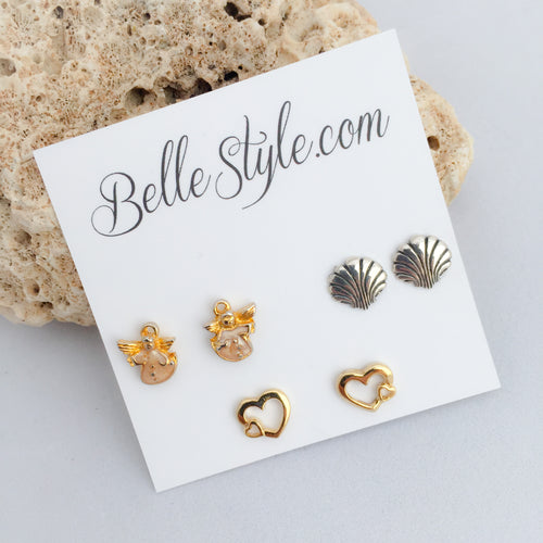 Shell Post Earring Pack