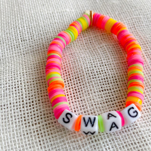 Neon Rainbow Friendship Bracelet - Bellestyle happy sun swag love
