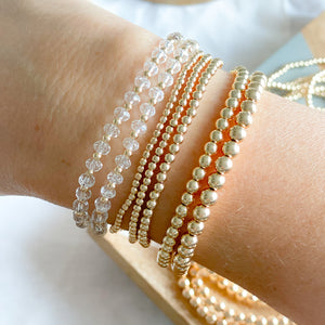 Gold 14K Beaded Bracelet - Bellestyle