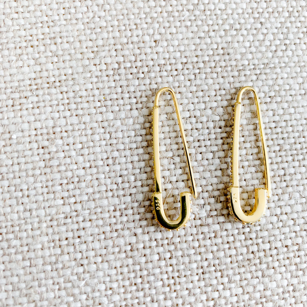 Safety Pin Earrings - BelleStyle