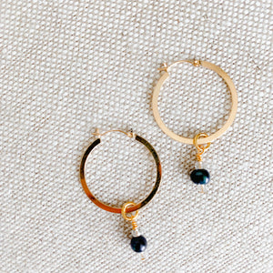 Brio Black Pearl Earrings