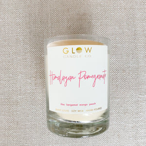 Lead free soy wax candle glow Himalayan pomegranate
