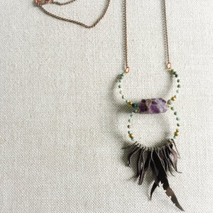 Futa Lux Amethyst Necklace - BelleStyle
