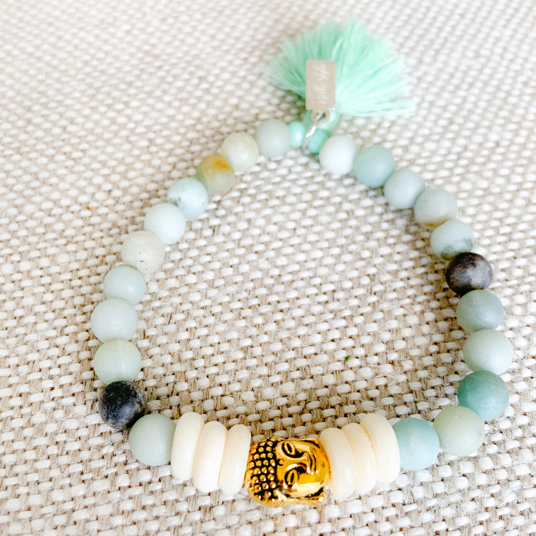 Buddha Bracelet In Amazonite - BelleStyle