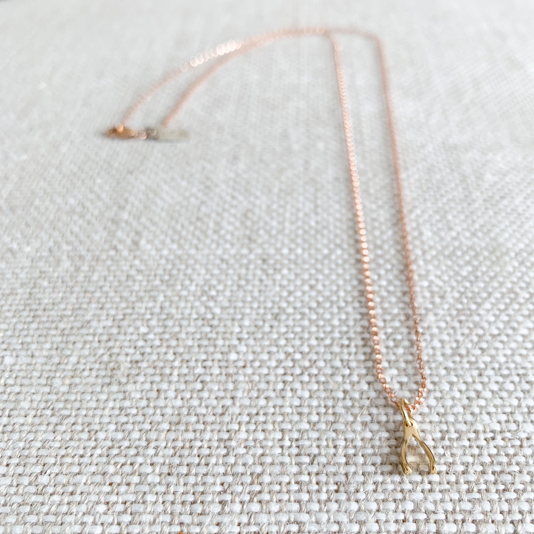 Wishbone Mini Necklace - BelleStyle