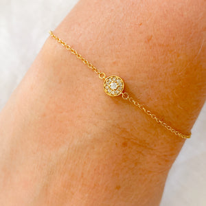 One World 14KT Diamond Bracelet - Bellestyle