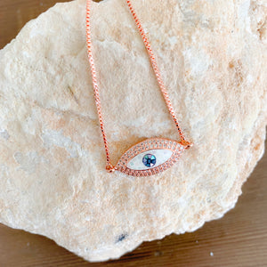 Opal Evil Eye Bracelet - BelleStyle