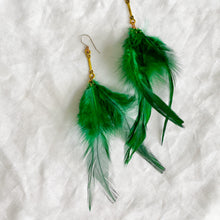 Robertson Earrings - BelleStyle feather emerald long