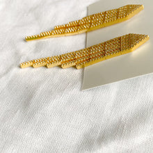 Bellestyle gold pave crystal statement earrings